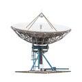 satellite dish antenna radar big size isolated on white background Royalty Free Stock Photo