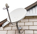 Satellite dish antenna television on house Stock Images
