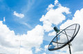 Satellite dish on the blue sky Stock Photo