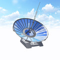 Satellite dish with clipping path antenna used in astronomy as a telescope and in telecommunications industry for transferring and Royalty Free Stock Image