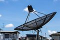 Satellite dish. Royalty Free Stock Photo