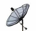 Satellite dish dilapidated isolate on white background Royalty Free Stock Photography