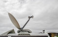 Satellite Dish on Mobile DSNG Royalty Free Stock Photo