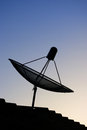 Satellite dish with morning sky Stock Photography