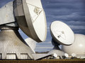 Satellite dish radio telescope group of modern dishes telescopes Stock Image