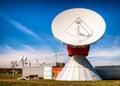 Satellite dish radio telescope modern Royalty Free Stock Image