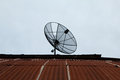 Satellite dishes communication technology Royalty Free Stock Photo