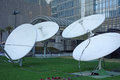 Satellite dishes located in shanghai china Stock Image
