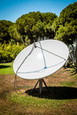 Satellite dishes on the nature Royalty Free Stock Photo