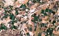 Obraz kde plodiny jsou vidět přes poušť mexiko