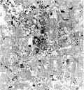 Satellite map of Atlanta, Georgia, Usa, city streets
