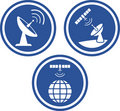 Satellite radar dish - Vector icons Stock Image