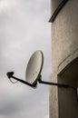 Satellite television dish Royalty Free Stock Photo