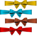 Satin color ribbons gift bows set of colorful vector for eps Royalty Free Stock Photography