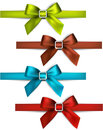 Satin color ribbons gift bows set of colorful vector for eps Stock Photography