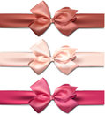 Satin color ribbons gift bows set of colorful vector for eps Stock Images