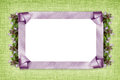 Satin frame and flowers Royalty Free Stock Photo