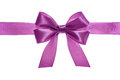 Satin pink ribbon bow Stock Photography
