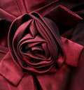 Satin rose embellishment detailed view of ribbon Royalty Free Stock Photos