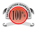Satisfaction 100% garantie Photo stock