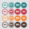 100 % Satisfaction Golden Label Vector Royalty Free Stock Photo