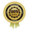 Satisfaction guarantee gold vector label