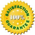 Satisfaction guarantee golden sign  illustration Royalty Free Stock Photo