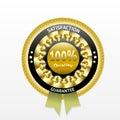 Satisfaction guarantee golden vector label Royalty Free Stock Photo