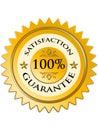 Satisfaction guarantee label Royalty Free Stock Photo