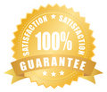 Satisfaction guarantee label Stock Photos