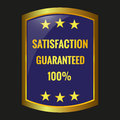 Satisfaction guarantee label vector Royalty Free Stock Photo