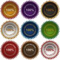 Satisfaction guarantee labels. Royalty Free Stock Images