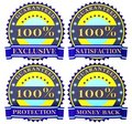 Satisfaction guarantee labels Stock Photos