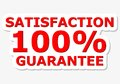 Satisfaction 100% Guarantee Red Sign Royalty Free Stock Photo