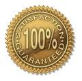 Satisfaction guaranteed 100% gold stamp