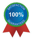 Satisfaction guaranteed badge Royalty Free Stock Images