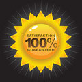 Satisfaction Guaranteed Badge Royalty Free Stock Photography