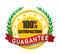Satisfaction guaranteed label isolated on white background d render Stock Photos