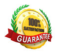 Satisfaction guaranteed label isolated on white background d render Stock Image