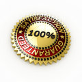 Satisfaction Guaranteed seal over white Stock Photo