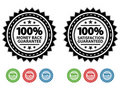 Satisfaction Guaranteed Seals EPS Royalty Free Stock Photos