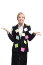 Satisfied businesswoman Royalty Free Stock Photo