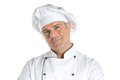 Satisfied chef smiling Stock Photo