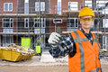 Satisfied construction worker Royalty Free Stock Photos