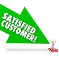 Flecha feliz cliente