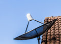 Sattelite dish on roof Royalty Free Stock Photo