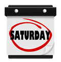 Saturday word circled wall calendar weekend reminder the on a to illustrate the and serve as a of important events or appointments Royalty Free Stock Photo