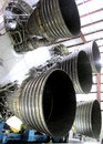 SATURN V`S FIVE ROCKET ENGINES OF  ITS FIRST STAGE Royalty Free Stock Photo
