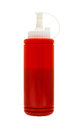 The sauce is ketchup squeeze bottle inside isolate with selection path Royalty Free Stock Photo