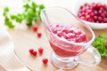Sauce made ​​from cranberries Stock Image